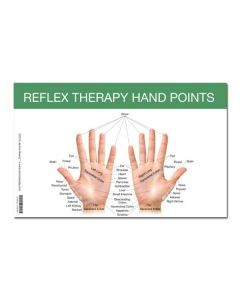 "Mini Reflex Point Foot and Hand Chart (8-1/2"" x 5-1/2"")"