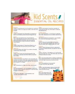 """Kid Scents Essential Oil Recipes"" Chart"