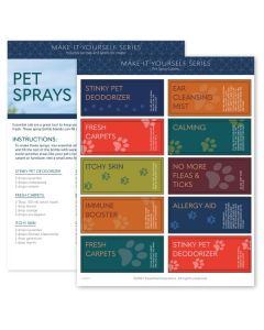 """Pet Sprays"" Make-It-Yourself Recipe and Label Set"