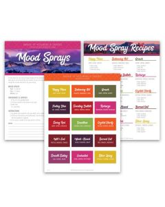 """Mood Sprays"" Make-It-Yourself Recipe and Label Set"
