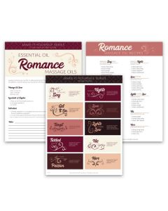 """Romance Massage Blends"" Make-It-Yourself Recipe and Label Set"