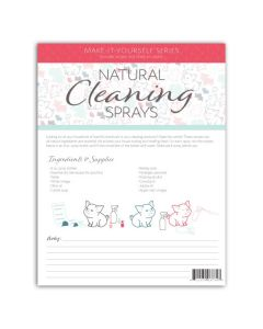 """Cleaning Sprays"" Make-It-Yourself Recipe and Label Set"