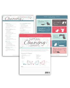 """""""Cleaning Sprays"""" Make-It-Yourself Recipe and Label Set"""