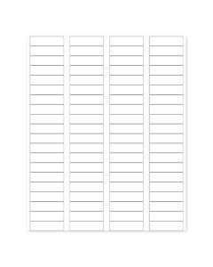 """Blank White Labels, .5"""" x 1.75"""" (Sheet of 80 labels—for 5/8 Dram Sample Vials)"""