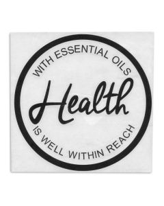 """With Essential Oils Health Is Well Within Reach"" Vinyl Sign"