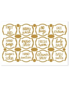 Gold Collection Personal Care Vinyl Labels (Set of 12)