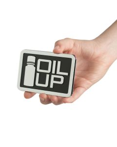 """Square """"Oil Up"""" Car Decal"""