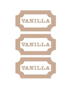 Vanilla Vinyl Labels (Set of 3)
