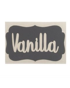 Gray Vanilla Vinyl Labels (Set of 3)