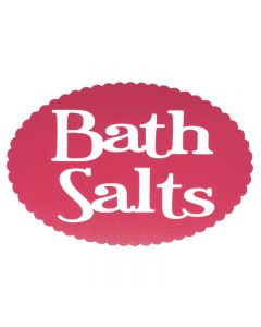 Bath Salts Vinyl Label