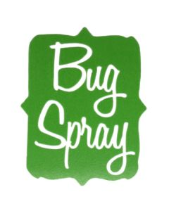 Bug Spray Vinyl Label
