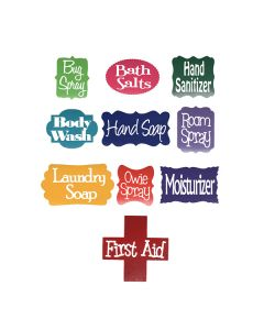 Assorted Vinyl Labels (Set of 10)
