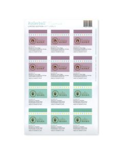 "Rollerball ""Mamas"" Happy and Calm Waterproof Labels (Set of 11)"
