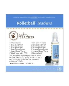 "Rollerball ""Teachers"" Happy and Calm Waterproof Labels (Set of 11)"
