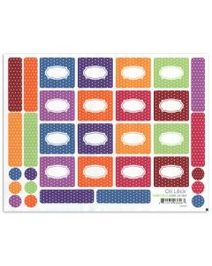 Polka Dot Roll-on Bottle Oil Lock Labels and Lid Stickers for 1/3 oz. Vials (Set of 33)