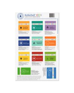 "Rollerball ""Kids"" Assorted Waterproof Labels (Set of 11)"