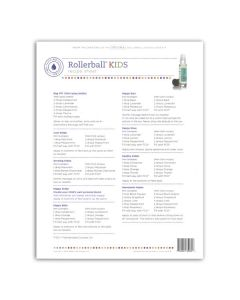 "Rollerball ""Kids"" Recipe Sheets (25 Sheets)"