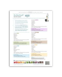 "Rollerball ""Mood Series"" Recipe Sheets (25 Sheets)"