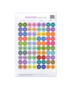 Assorted Rollerball Kits Waterproof Sticker Tops (Set of 88)