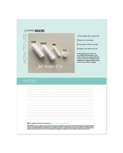 """Aroma Inhalers"" Recipe Sheets (25 Sheets)"