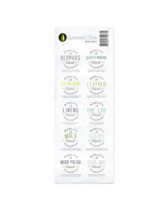 """Green and Clean"" Assorted Waterproof Labels (Set of 10)"