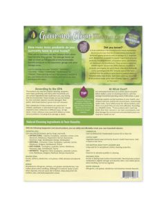 """Green and Clean with Essential Oils"" Recipe Sheets (25 Sheets)"