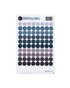 """Essentially Well"" Assorted Waterproof Sticker Tops (Set of 88)"