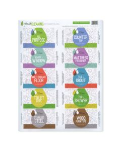"""Green Cleaning"" Assorted Waterproof Labels (Set of 10)"