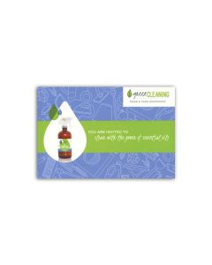 """""""Green Cleaning"""" Postcard Invitations (Set of 20)"""
