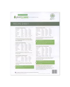 """Green Cleaning"" Recipe Sheets (25 Sheets)"