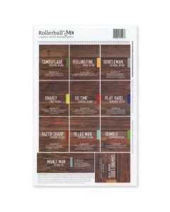 "Rollerball ""Men"" Assorted Waterproof Labels (Set of 11)"