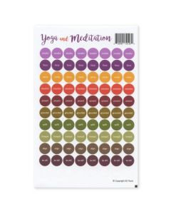 """Yoga and Meditation"" Assorted Waterproof Sticker Tops (Set of 88)"