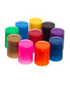 Colored Lids for 1/6 and 1/3 oz. Roll-on Vials (Set of 10)