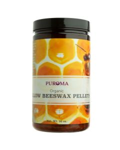 Pure Organic Yellow Beeswax Pellets, 1 lb.