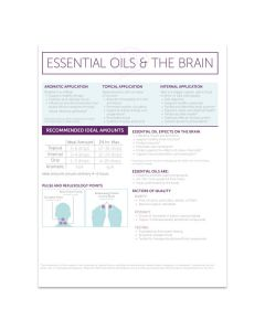 """""""Essential Oils and The Brain"""" Handouts (Set of 25)"""