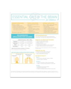 """""""Essential Oils and The Brain for Children"""" Handouts (Set of 25)"""