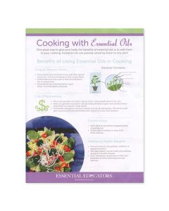 """""""Cooking with Essential Oils"""" Handouts (Set of 25)"""