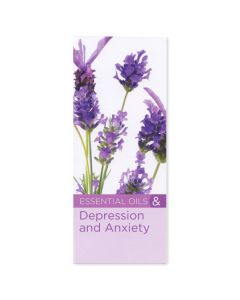 """""""8 Benefits of Essential Oils for Depression and Anxiety"""" Brochure (Set of 20)"""