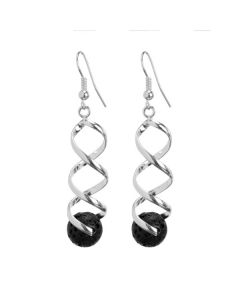 Swirled Lava Rock Earrings