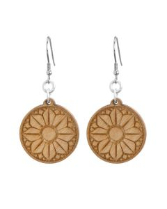 Flower Wood Earrings