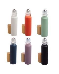 1/3 oz. Complete Matte Collection Glass Bottles with Metal Rollers and Gold Caps (Set of 6)