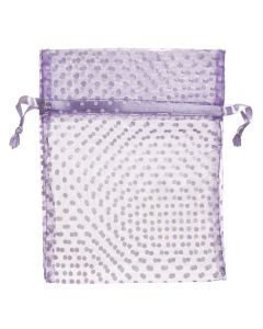 Purple Polka Dot Organza Gift Bags (Set of 10)