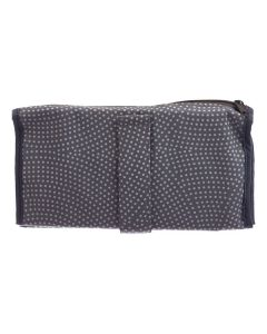 Gray with White Polka Dots Folding Pill Wallet (Includes Pill Bags)