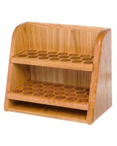 Handcrafted, Solid Oak 2-Shelf Storage and Display Rack (Holds 46 Vials)