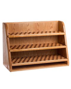 Premium Handcrafted, Solid Oak 3-Shelf Storage and Display Rack (Holds 151 Vials)