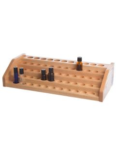 5-Tier Extended Oak Storage and Display Rack (Holds 57 Vials)
