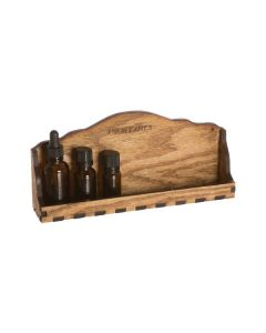 Natural Wood Single Shelf Storage and Display Rack (Holds 8-10 Vials)