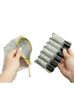Small Roll-on Clutch with Removable Insert (Holds 6 Vials)