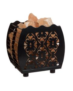 Hybrid Flanigan Lamp Basket with Himalayan Salts