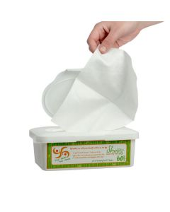 Dry Bamboo Wipes (60 Wipes and Container)